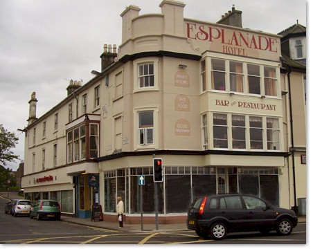 Front view of the Esplanade Bute Hotel